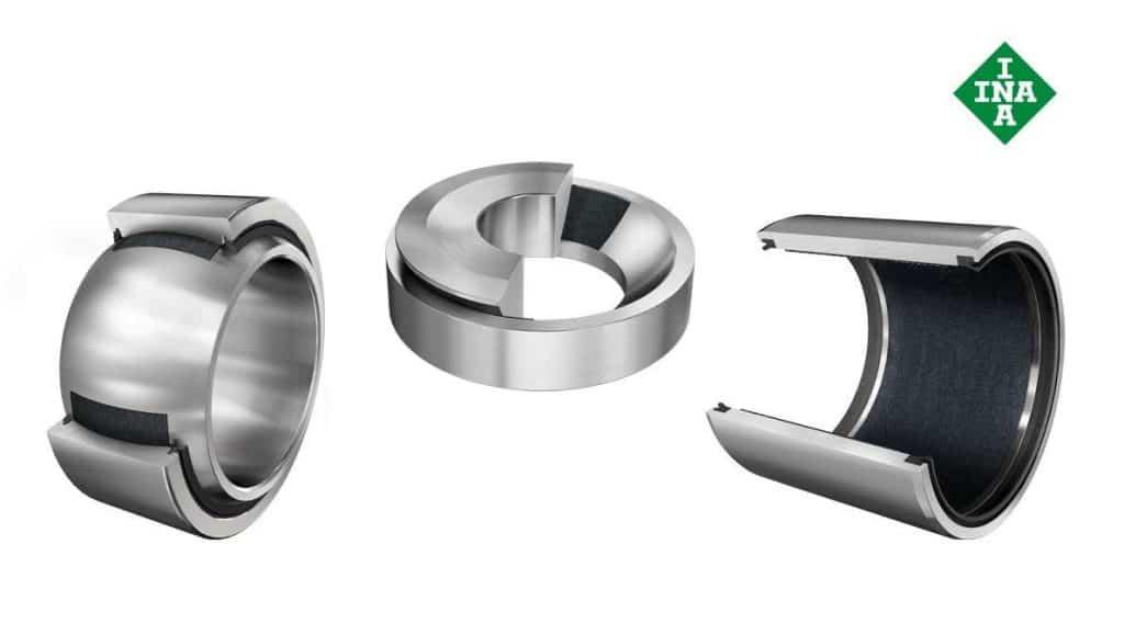Maintenance free plain bearings